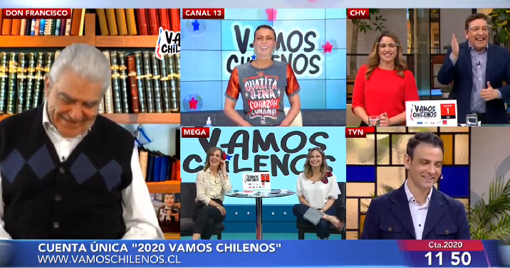 Julio César Rodríguez en Vamos chilenos