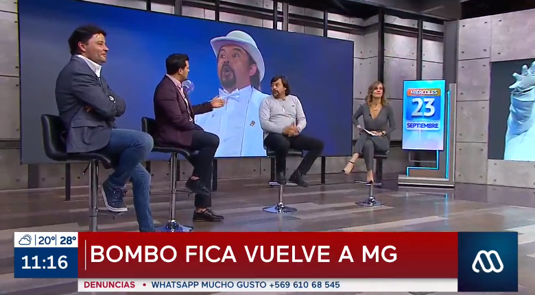 Bombo Fica reapareció en Mucho Gusto tras prometer que nunca iría al programa