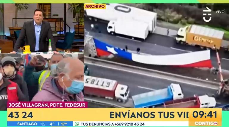 Tenso cruce entre JC Rodríguez y José Villagrán terminó con dirigente abandonando entrevista en vivo
