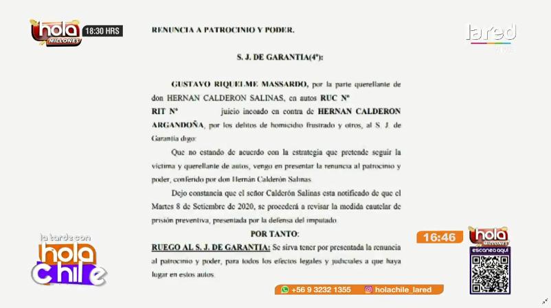 Polémica jornada para caso de Nano Calderón: abogado de Hernán padre presentó su renuncia