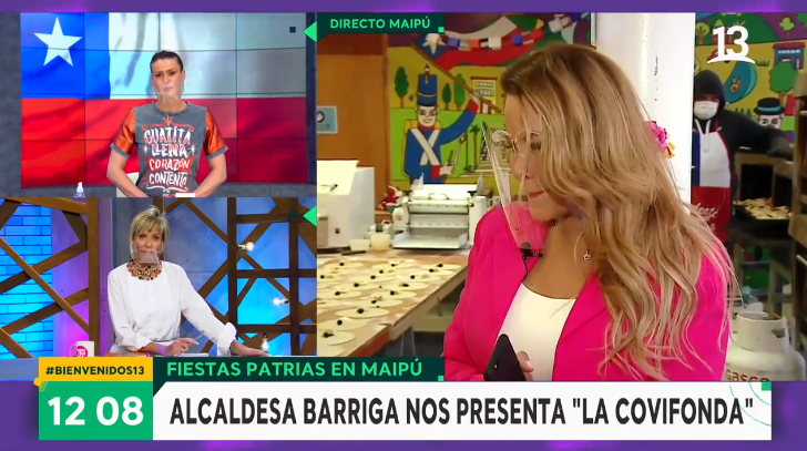 Cathy Barriga conmovida en Bienvenidos