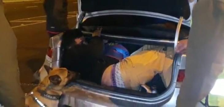 No aprenden: hombre fue detenido por intentar ingresar a región de Coquimbo en maletero de automóvil