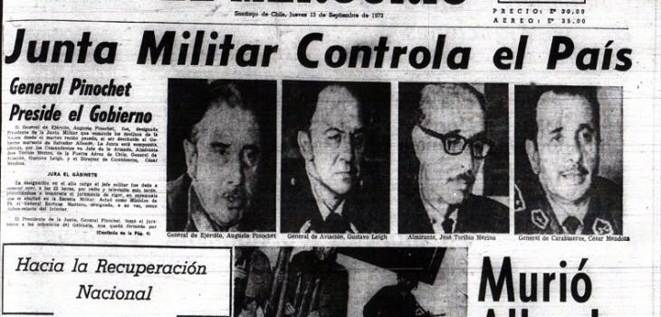 Esto tituló la prensa luego que asumiera la Junta Militar