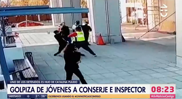 Hijo de Catalina Pulido fue detenido por participar en golpiza a conserje y guardia municipal