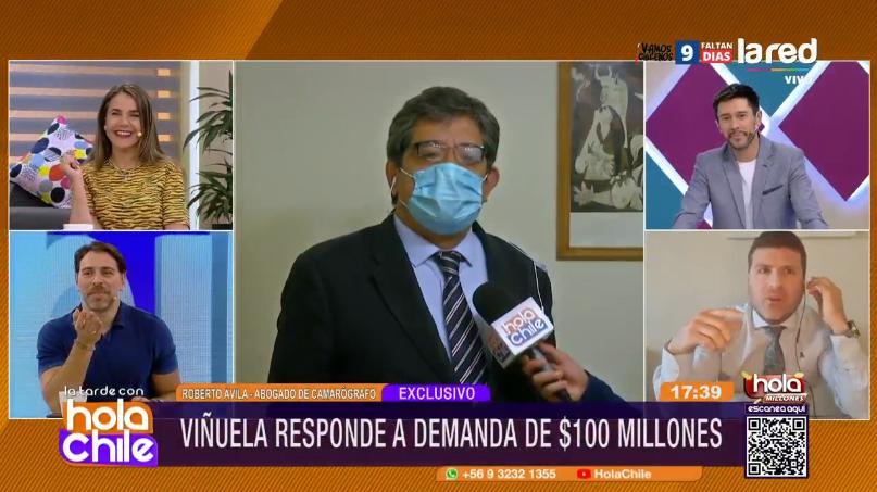 """La cuestionable reacción de Claudio Rojas en """"Hola Chile"""" que descolocó a panelistas"""