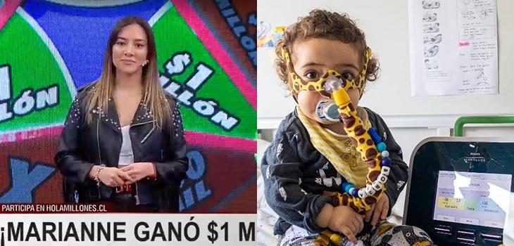 mujer ganó $1 millón y decidió donarlo para ayudar al pequeño Borja