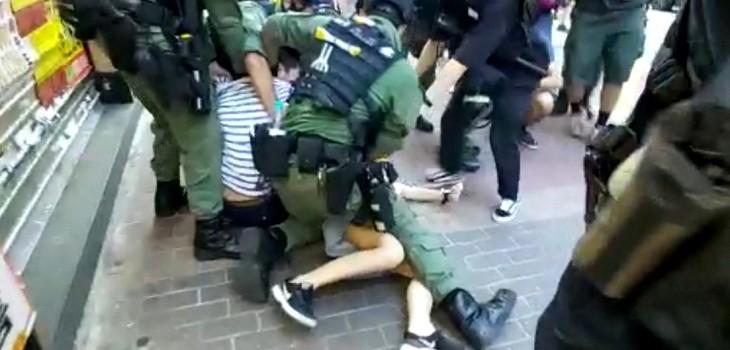 niña 12 años detenida hong kong