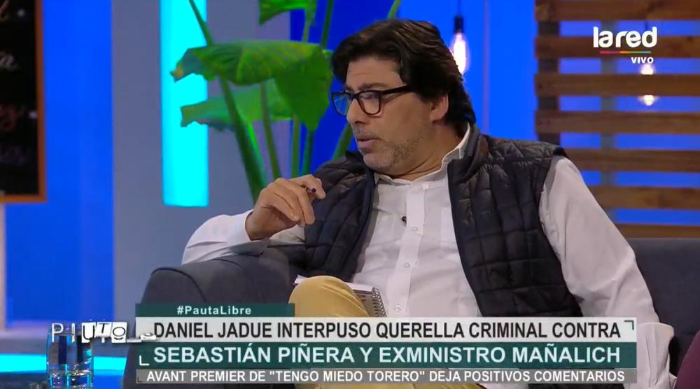 Daniel Jadue por querella criminal contra Piñera y Mañalich