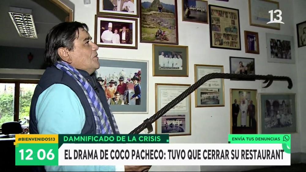Coco Pacheco cerró su restaurante