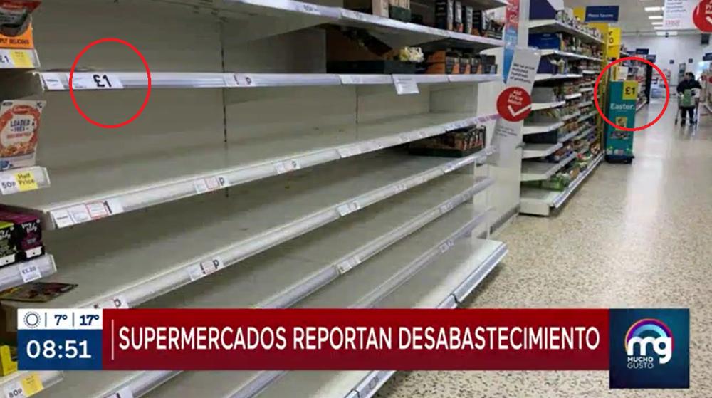Mucho Gusto recibe críticas por usar imagen de supermercado desabastecido que no corresponde a Chile