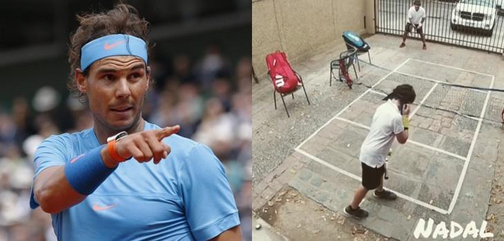Figura infantil del tenis chileno que imitó a Rafael Nadal recibió especial sorpresa del español