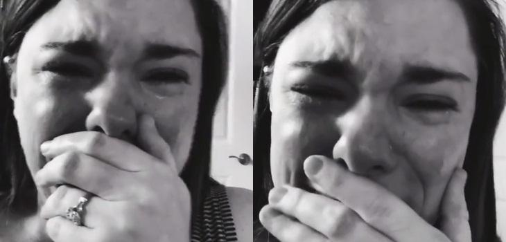 madre llora por cumpleaños de su hijo con síndrome de down