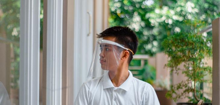 Escudo facial, protector facial, mascarilla