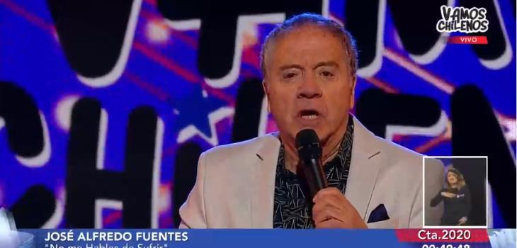 Pollo Fuentes interpretó canción de Los Bunkers en Vamos chilenos