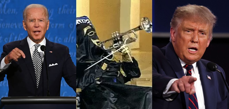 La curiosa alusión al 'Chacal de la trompeta' de congresista norteamericana en debate Trump-Biden