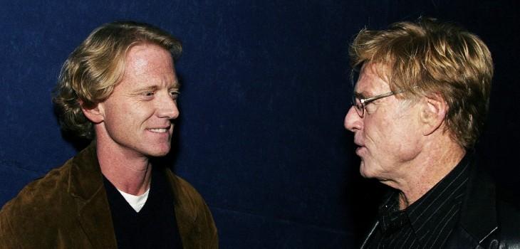 Robert Redford con su hijo James Redford