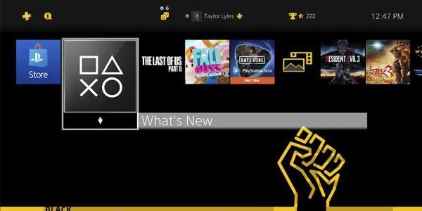 PlayStation libera tema para mostrar apoyo al movimiento 'Black Lives Matter'