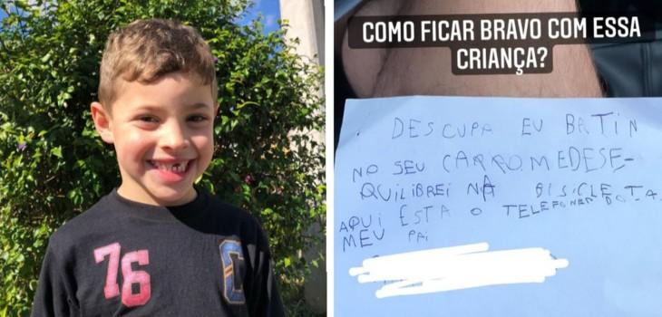 Benicio, el niño que dejó una carta al rayar un auto   Captura   Globo 1