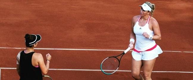 chilena logró clasificar a la final del dobles en Roland Garros