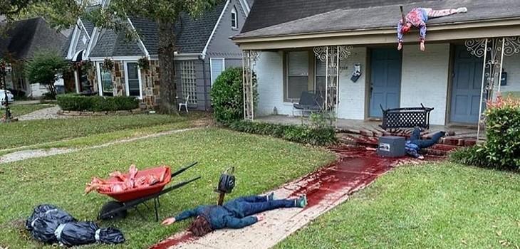 Casa de horror en Halloween hizo que llegara la policía