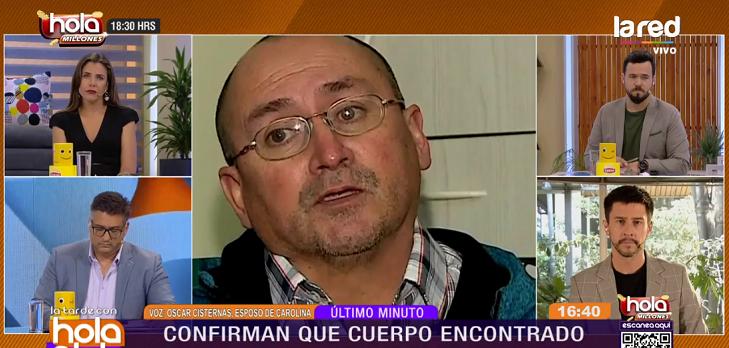 Óscar Cisternas en Hola Chile esposo de Carolina Fuentes
