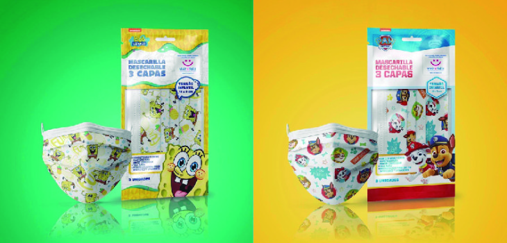 Mascarillas de Nickelodeon para ir en ayuda de niños con cáncer
