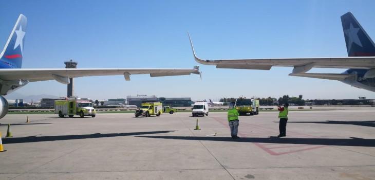 incidente entre dos aviones