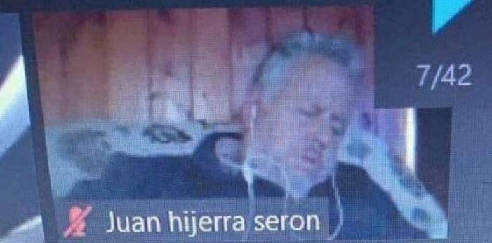 Alcalde de Dalcahue sorprendido durmiendo