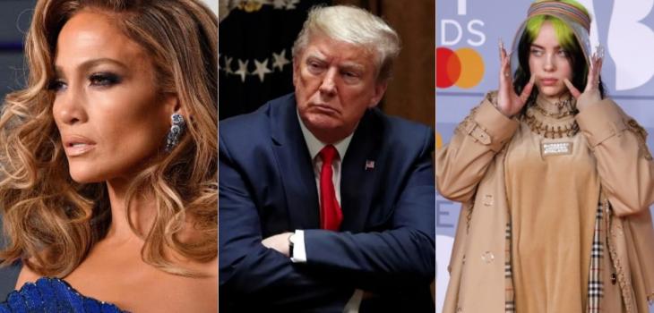la lista de artistas vetados por Trump para campaña de prevención de COVID