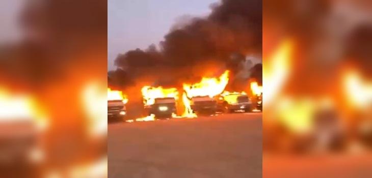 camiones quemados angol
