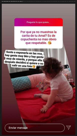 Chiqui Aguayo, por qué no muestra cara de su hija