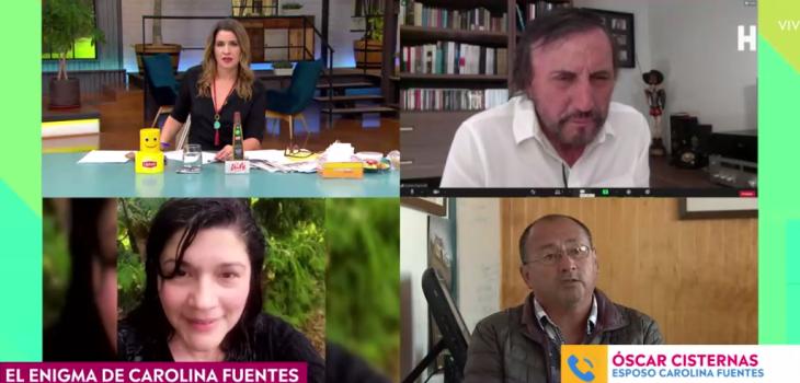 Incómodo momento: Carlos Pinto reveló a esposo de Carolina Fuentes dato preliminar que desconocía