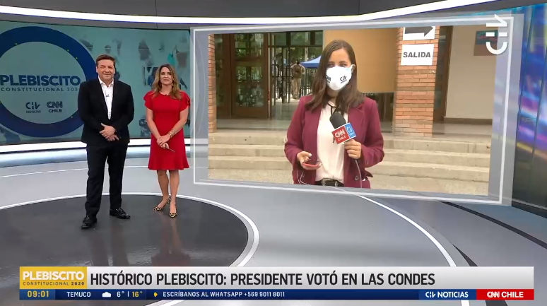 El llamado en vivo al Servel de JC Rodríguez tras problemas de la prensa en locales de votación