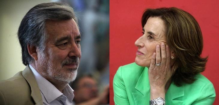 Alejandro Guillier y Marcela Cubillos