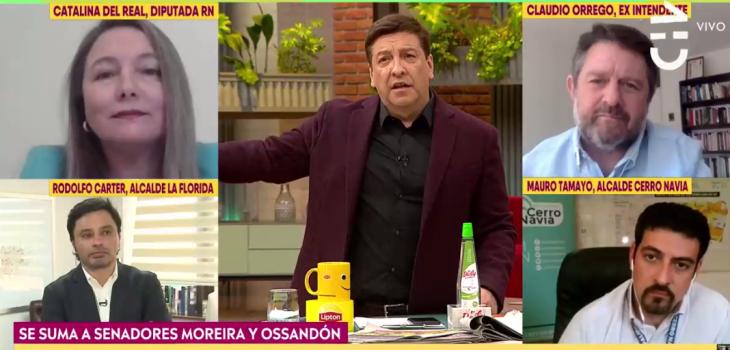 Julio César Rodríguez tuvo tenso cruce con diputada Del Real en CHV: