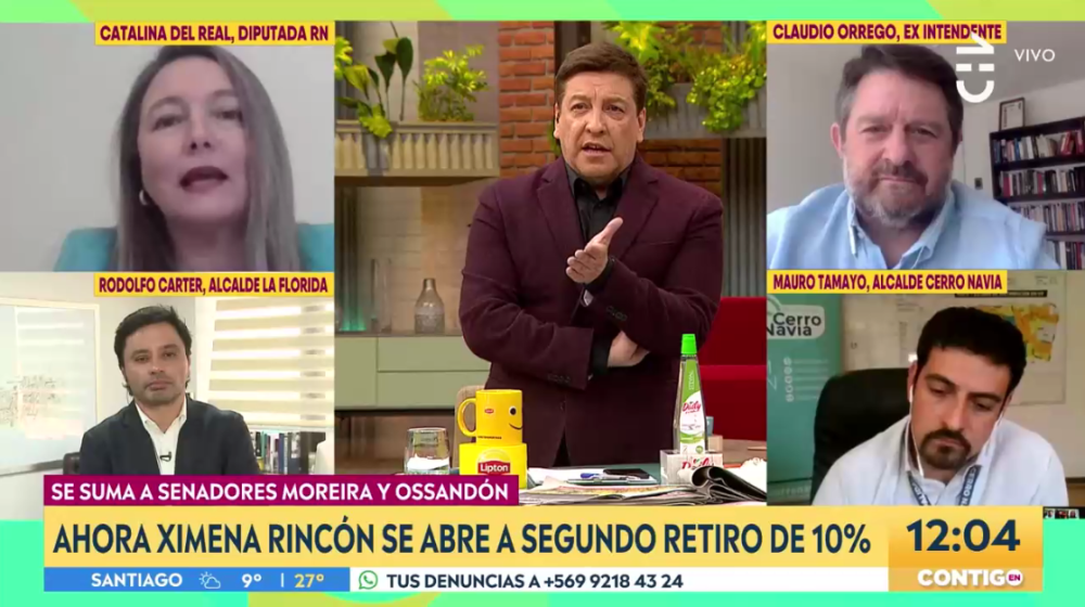 """Julio César Rodríguez tuvo tenso cruce con diputada Del Real en CHV: """"Usted falta a la verdad"""""""