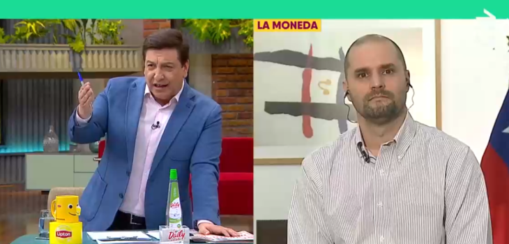 Julio César Rodríguez y ministro Bellolio tuvieron tenso round en CHV