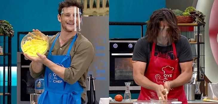 Actores Cristián Riquelme y Eyal Meyer en Oye al chef