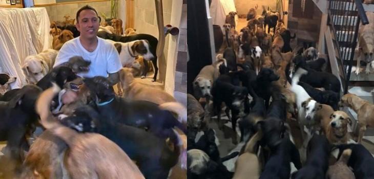 Digno de aplaudir: hombre resguardó a casi 300 animales para cuidarlos del huracán Delta