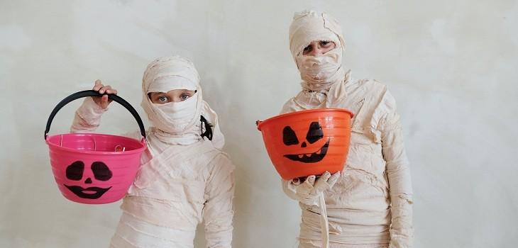 Cantidad de azúcar por golosina en Halloween
