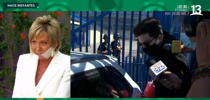 Raquel Argandoña se quiebra en 'Bienvenidos' al enterarse que 'Nano' Calderón salió de Santiago 1