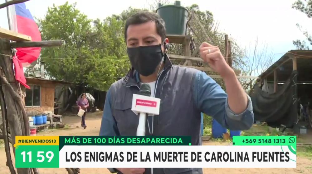 """Reportero de """"Bienvenidos"""" se quebró en vivo por caso de Carolina Fuentes: """"Me faltan palabras..."""""""