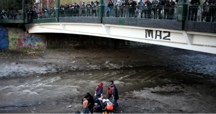 caída de joven a río Mapocho