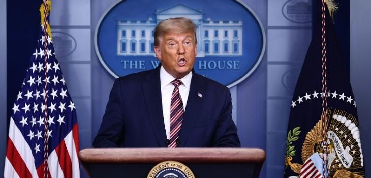 Cadenas de TV estadounidenses cortan discurso de Trump para evitar desinformación