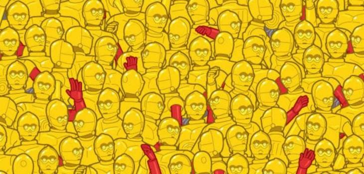 Un Óscar entre muchos C3PO: el reto viral que deberías superar en 30 segundos