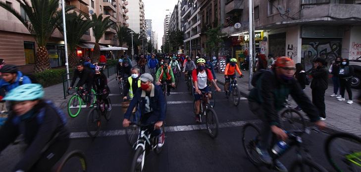 ciclistas en Chile