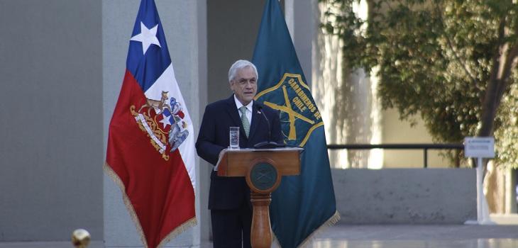 Piñera en cambio de mando de Carabineros