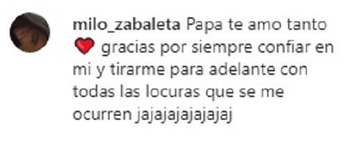 Jorge Zabaleta chochea con su hija