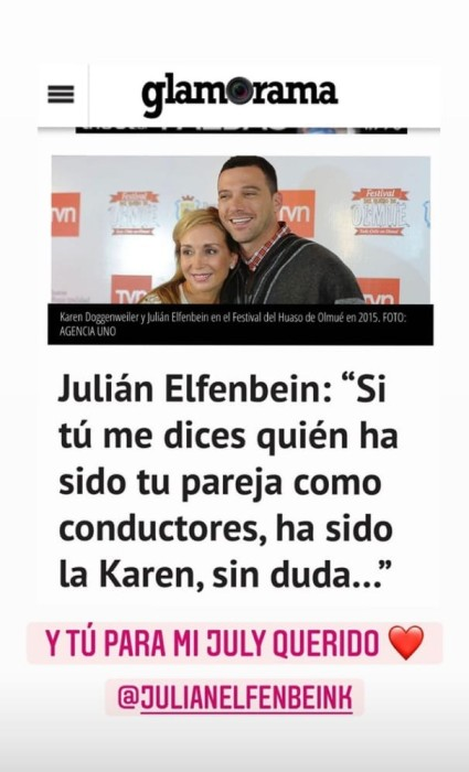 Amistad de Karen Doggenweiler y Julián Elfenbein