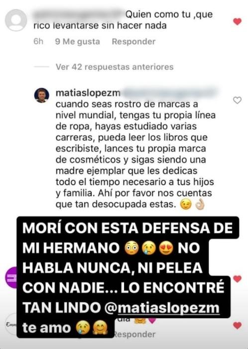 defensa del hermano de Coté López